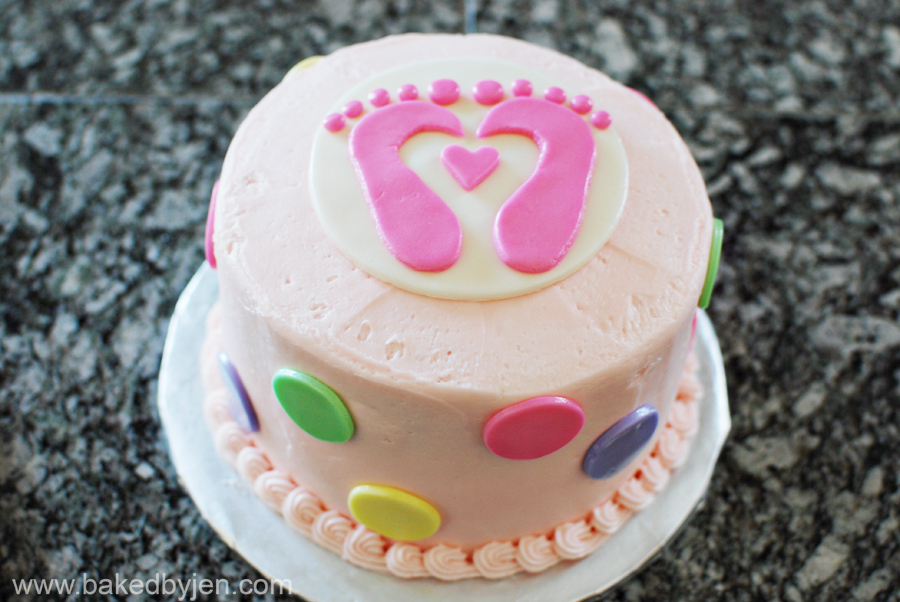 Baked by Jen: Tiny Toes Theme Baby Shower Cake