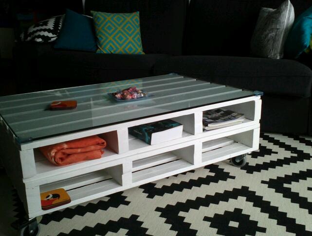Diy x4duros 39 13 mesa de palets de ainara - Mesa de palets bricolaje ...