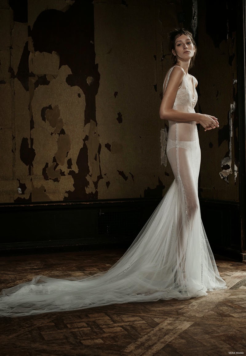 Vera wang presents sexy bridal gowns for the spring 2016 for Corset bra for wedding dress