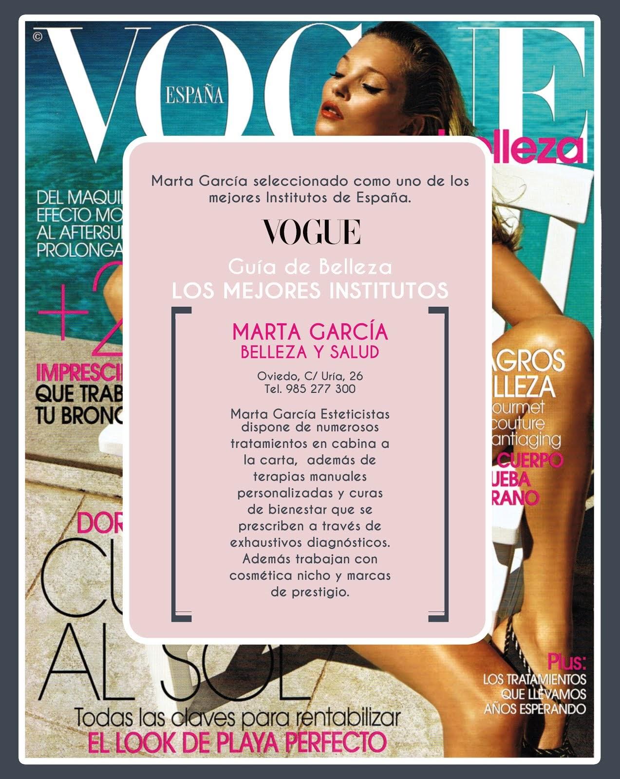 Vogue selecciona a Marta García como uno de los mejores centros de belleza de España