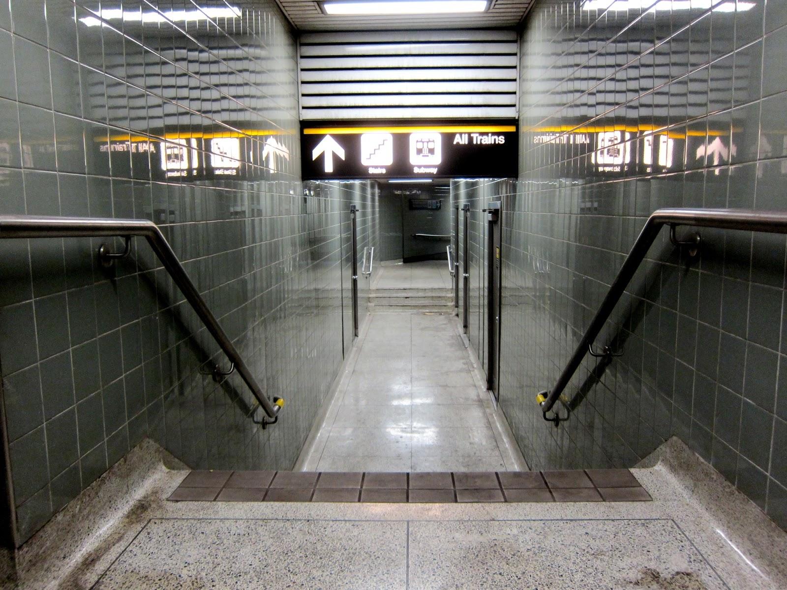 York Mills secondary stairwell corridor