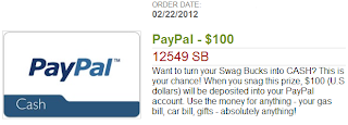 $100 from Swagbucks