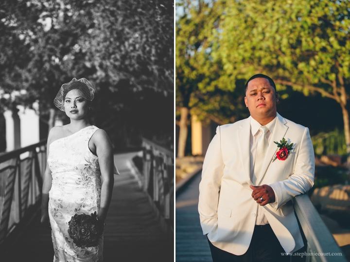 """bride and groom at vintage inspired spring wedding"""