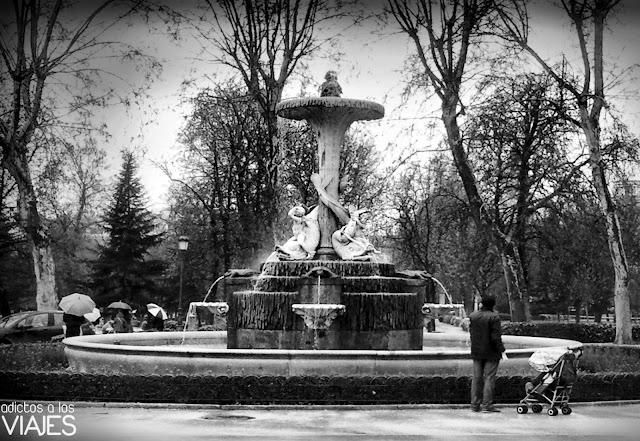 Fuente en el Parque del Retiro
