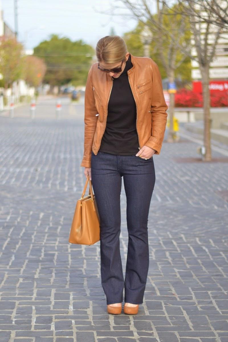 Brown Leather Jacket + Dark Denim   Luci's Morsels