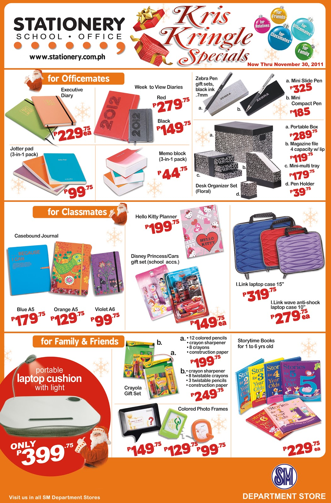 Stationery at SM: Christmas Gifts for your Officemates Friends and ...