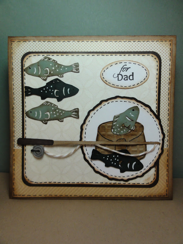 The cricut bug fish father 39 s day card for Father s day fishing card