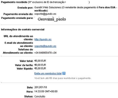1ª Prova Pagamento Leemails (5,00€)