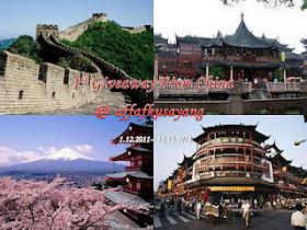 1st Giveaway From China @ Affafkusayang