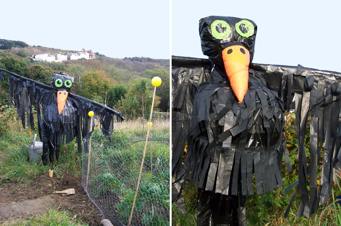 the green lady: Can a scarecrow crow scare crows?