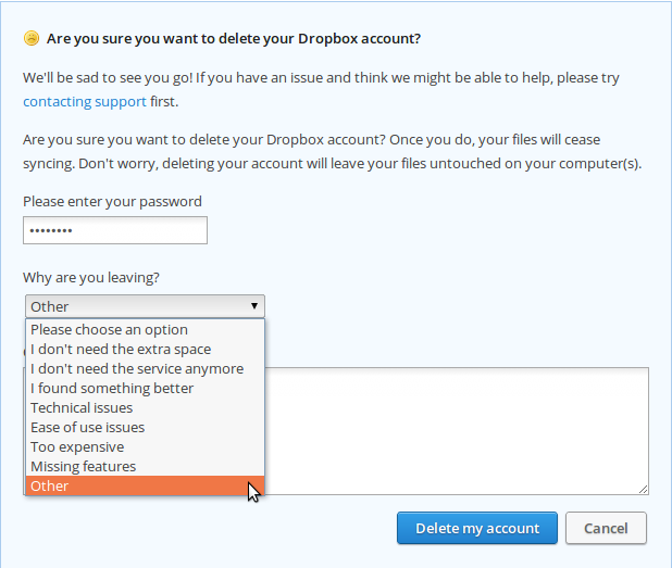 delete any accounts you will not be using