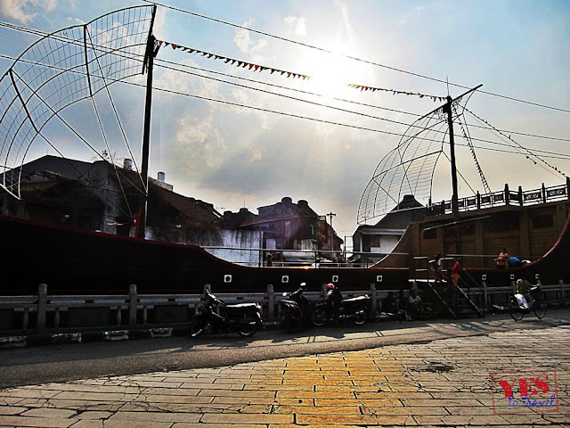 Ship Replica at Tay Kak Sie temple Semarang