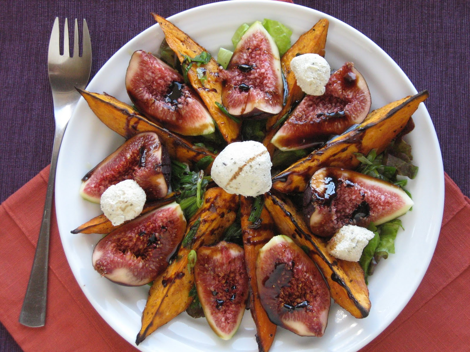 VeganForOne: Roasted Figs and Sweet Potatoes for One