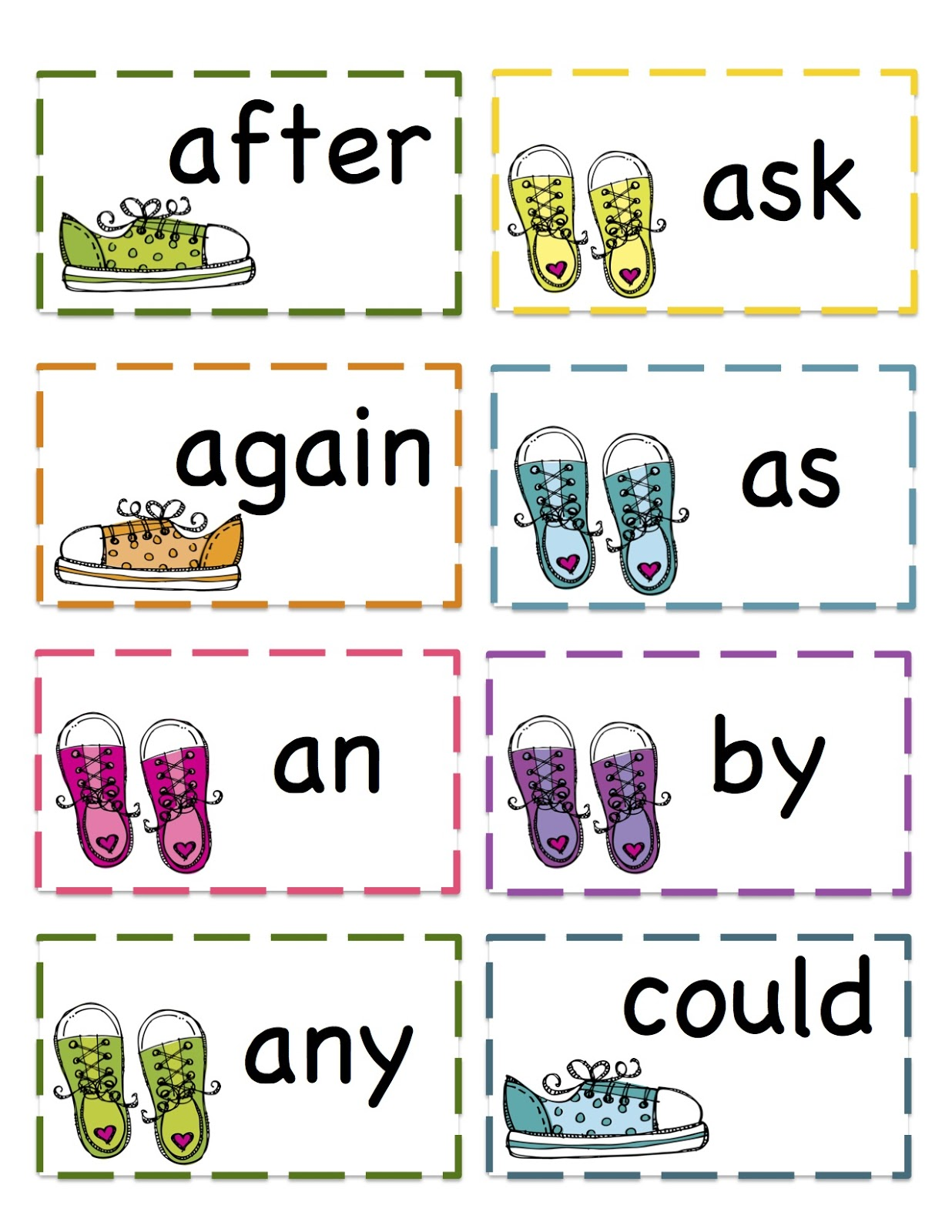 Words First Printables: for words Grade  kindergarten list Preschool sight Printable printable Sight