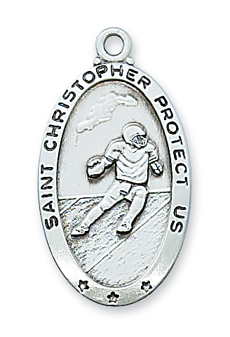 Saint Christopher football medal