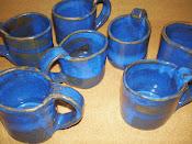 tazas azul opalo diseño exclusivo gres