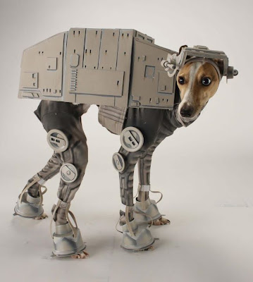 Dog in Star Wars AT-AT walker