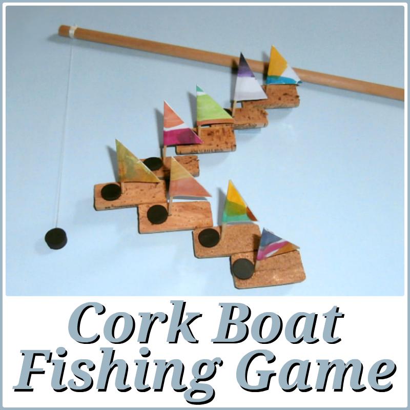 Wesens art cork boat fishing game kork boot angelspiel for Boat fishing games
