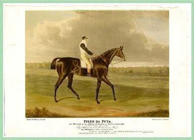 Cavalo puro-sangue inglês que tinha o nome de Filho da Puta, nome recebido por causa de uma desilusão amorosa do dono do animal bem na época de seu nascimento