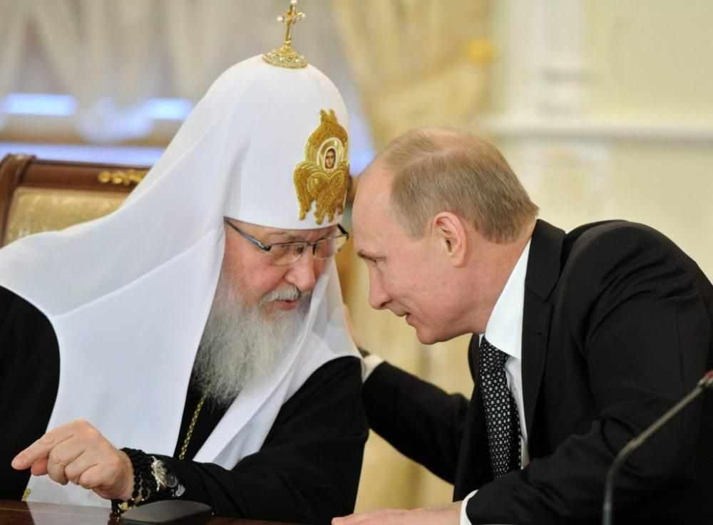 Resultado de imagem para Putin e o patriarca Kirill