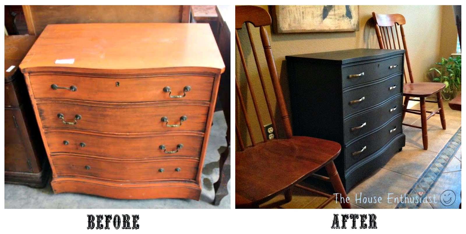 The House Enthusiast Dresser Makeover Before And After
