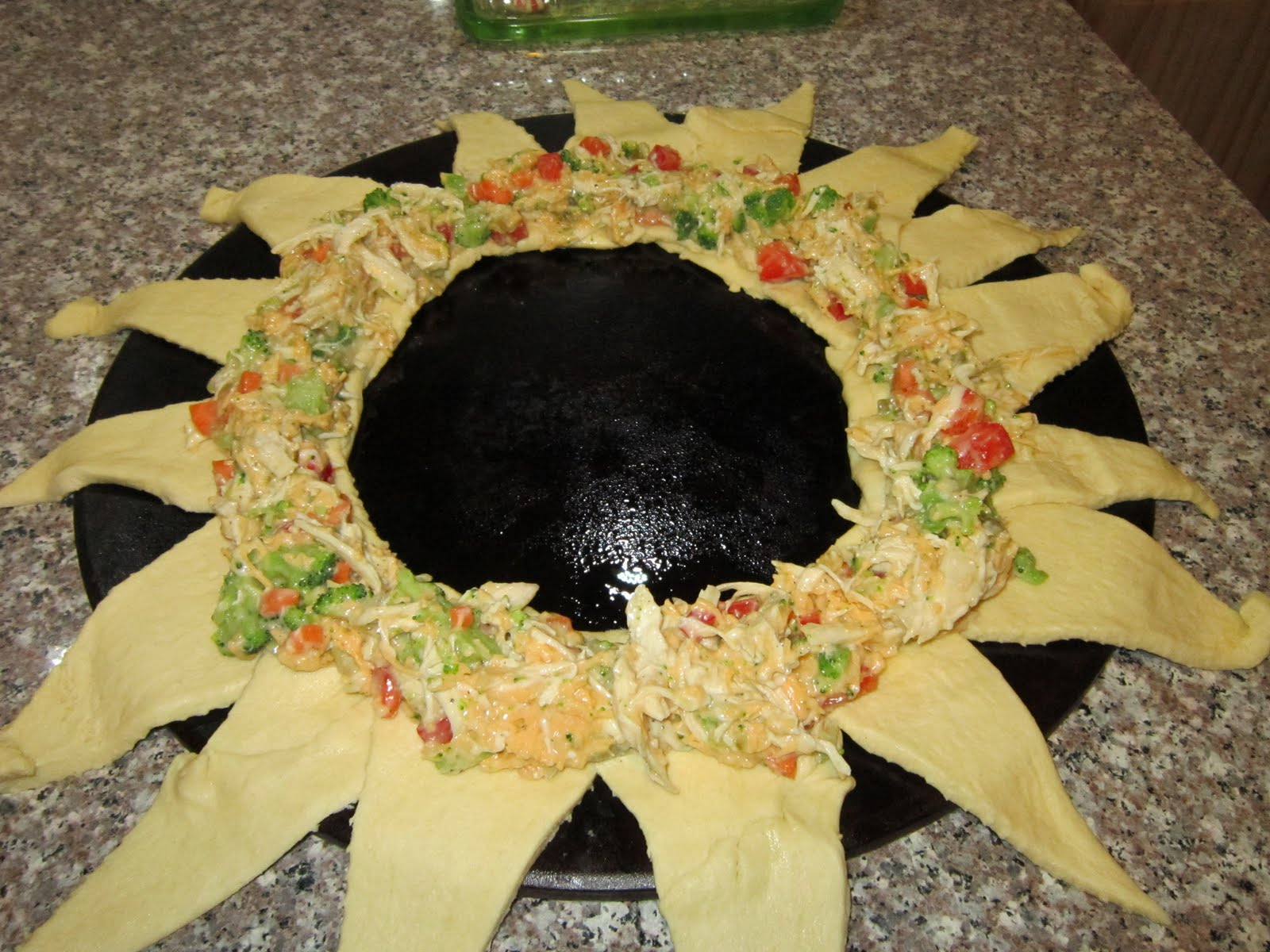 wreath holiday crescent wreath wreath crescent rolls chicken crescent ...