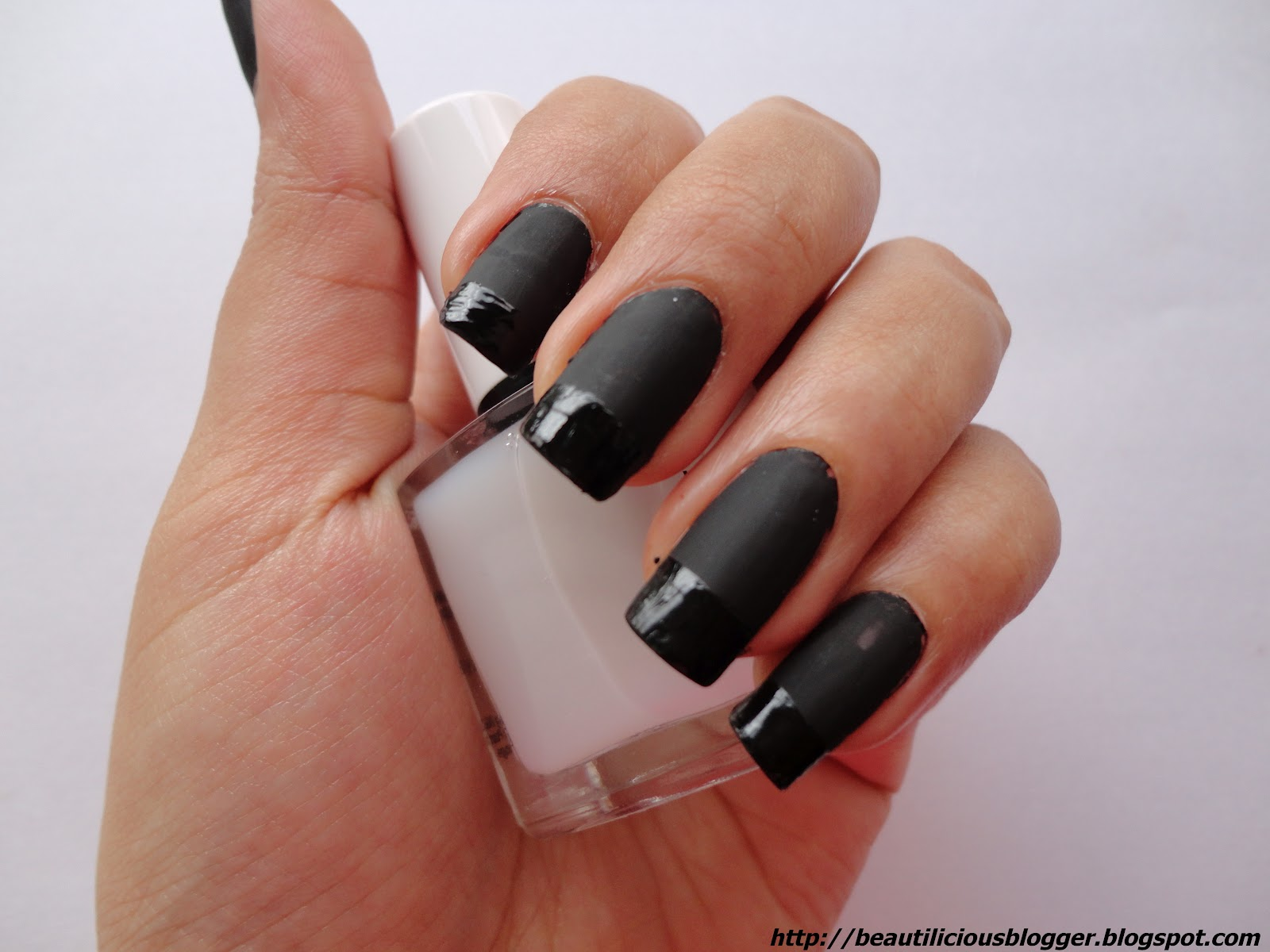 Acrylic Nail Designs Matte: Nail design chic matte dark floral ...