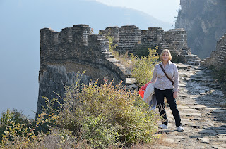 Margot Savage at the Great Wall at Lianyunling