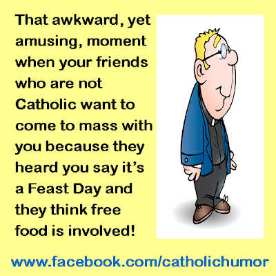 Image: That awkward, yet amusing, moment when your friends who are not Catholic want to come to mass with you