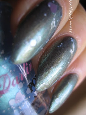 Darling Diva Polish Grumpy Bear over Revlon Carbonite