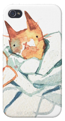 cat painting  /  iphone case