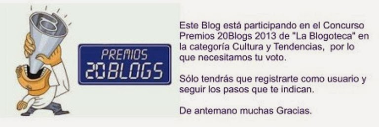 PREMIOS 20BLOGS 2013