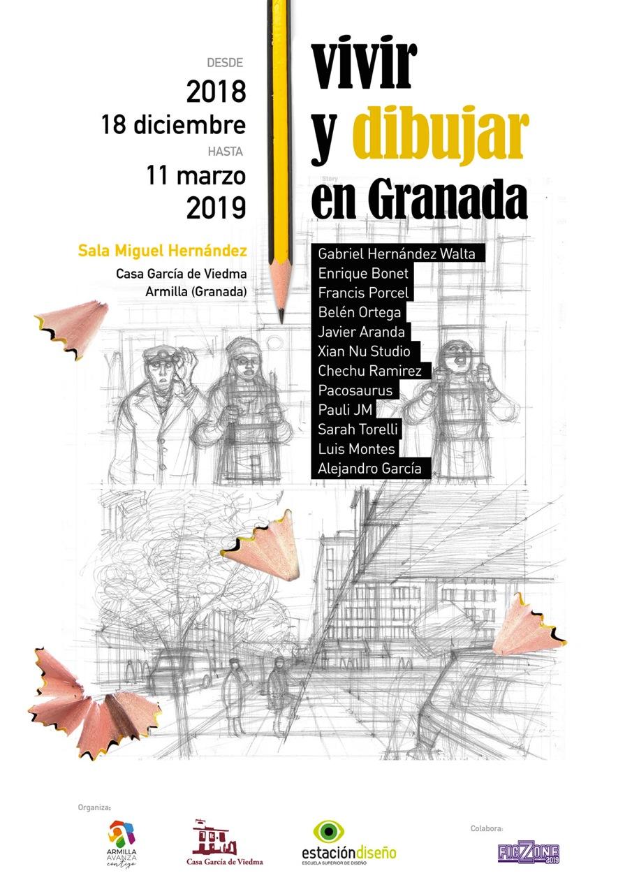 Exposición Vivir y dibujar en Granada (Del 18 de diciembre de 2018 al 11 de Marzo 2019)