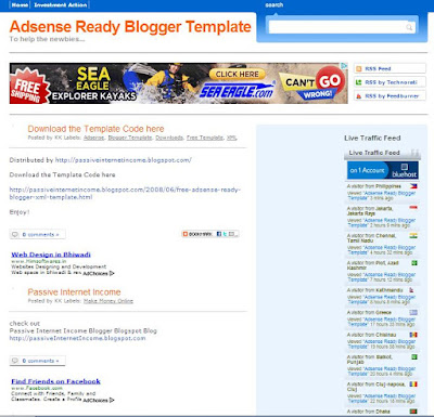 Adsense Template Siap Blogger
