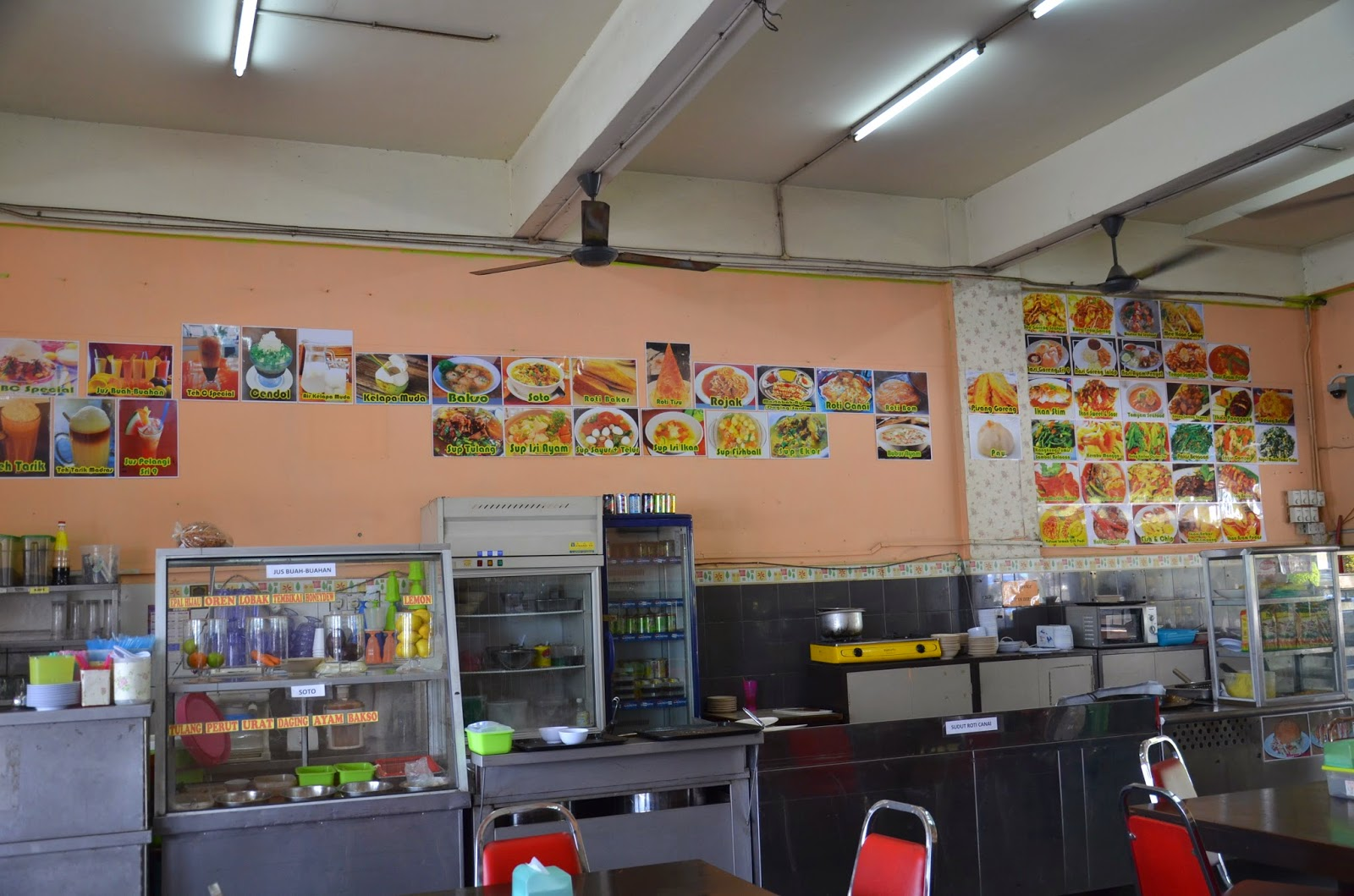 menu restoran sri sembilan ria, wall menu, resepi masakan, gambar makanan, gambar minuman, jus buah-buahan, makanan sedap