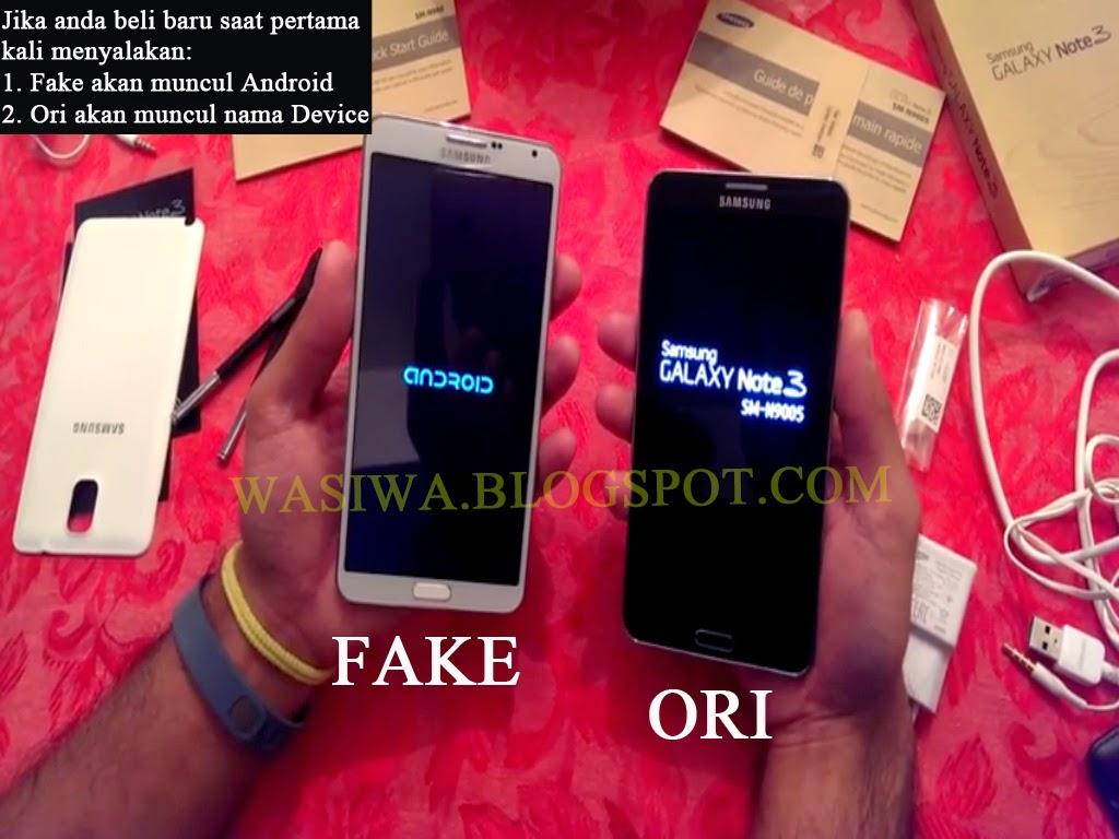 membeli Galaxy Note 3, pada device Original akan muncul Logo Samsung ...