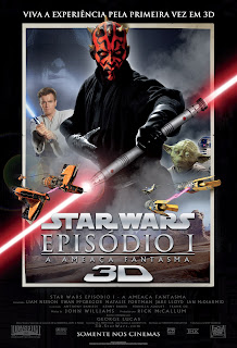 Pôster/capa/cartaz nacional de STAR WARS: EPISÓDIO I - A AMEAÇA FANTASMA em 3D (Star Wars: Episode I - The Phantom Menace in 3D)