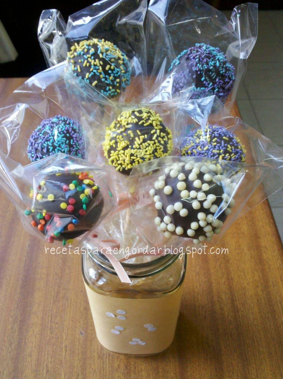 Recetas para engordar cake pops for Cobertura para cake pops