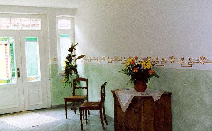 T cnica de pintura de marmolado paredes hogar - Tecnicas para pintar paredes interiores ...