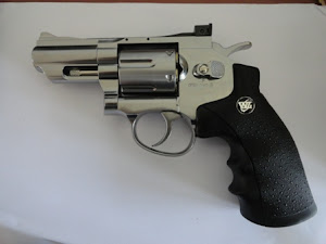 WinGun Sport 7 Full Metal 2,5 inch CO2 Revolver warna Chrome/Silver