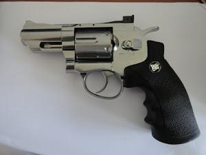 WinGun Sport 7 Full Metal 2,5 inch CO2 Revolver warna Chrome/Silver
