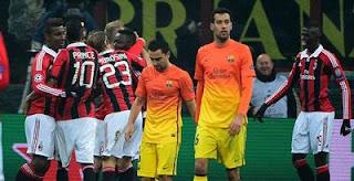 Hasil Pertandingan Barcelona vs Ac Milan Tadi Malam