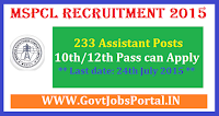 MSPCL Recruitment 2015