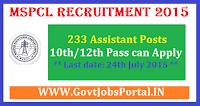 MSPCL Recruitment 2015