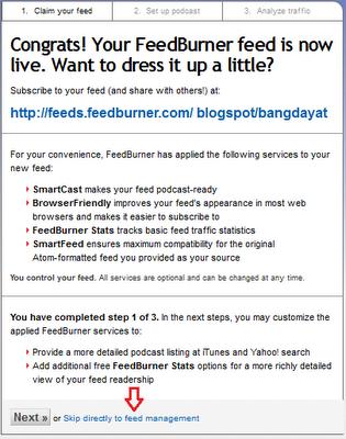 Membuat Feedburner pada Blog
