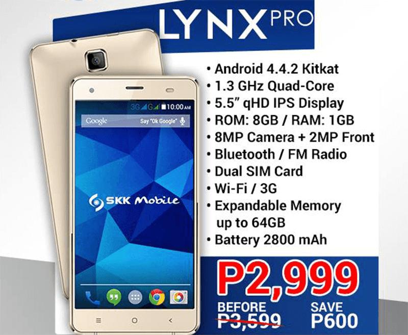 SKK Lynx Pro at 2999 Pesos