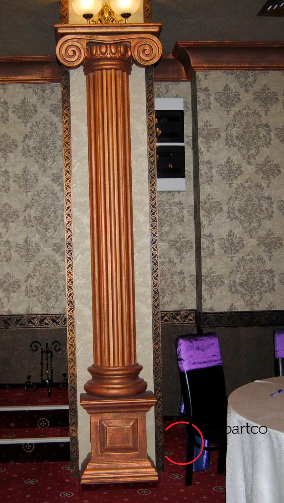 coloane grecesti, Coloana polistiren, decor sali nunti, Coloana decorativa stil ionic