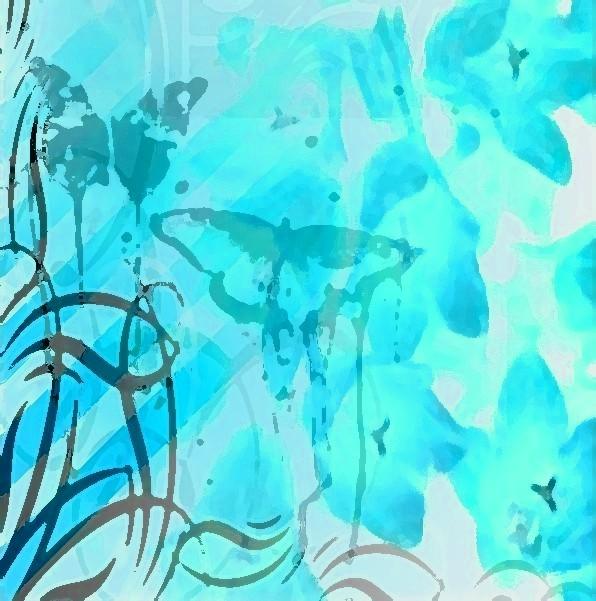 teal design wallpaper - photo #1