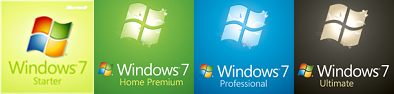 Windows 7 Starter, Home Premium, Professional, dan Ultimate