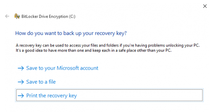 windows bitlocker drive encryption recovery key crack